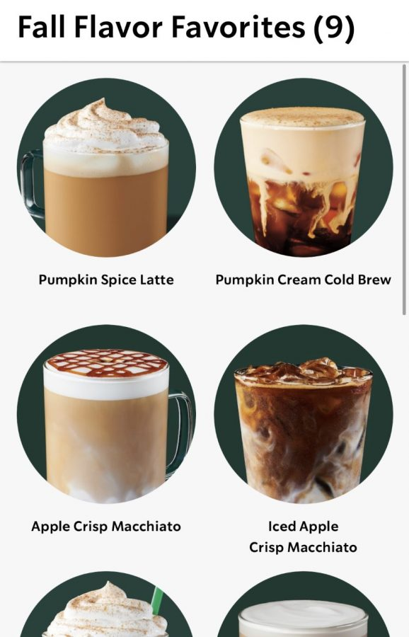 Check out all the fall favorite pictures on the Starbucks app!