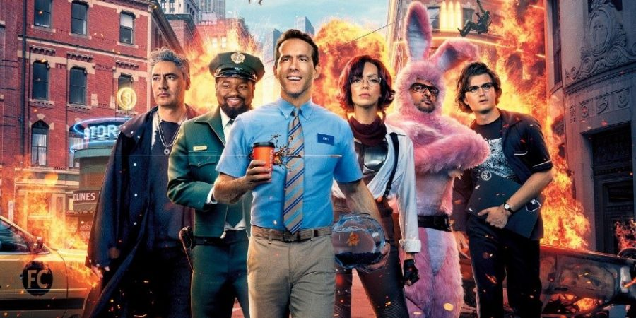 Above: Ryan Reynolds stars in Free Guy with famous cast